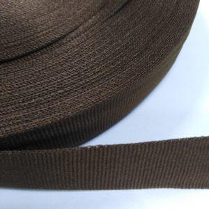 Лента репсовая 20мм (50м/рул) коричневый №1