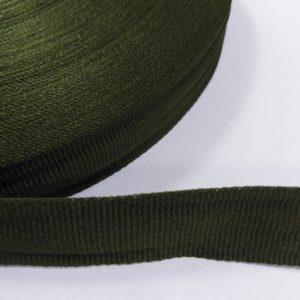 Лента репсовая 20мм (50м/рул) оливковый №158