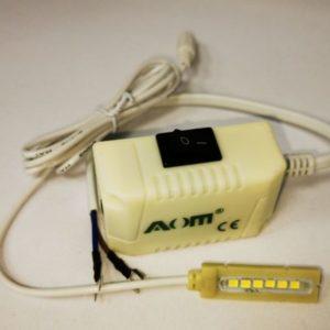 Лампа AOM-6-Z (Светильник с 6-ю сверхяркими светодиодами на магните, АОМ)