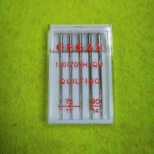 Игла ORGAN QUILTING набор 5шт. (№75 — 3 шт, №90 — 2 шт)
